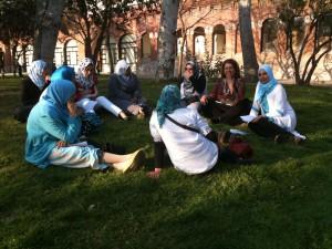 Día de huelga general. Local: El parque de la Maternitat en BCN