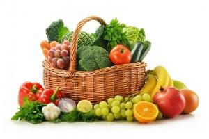 cesta de fruta y verdura