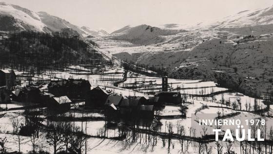 Taüll con nieve 1978