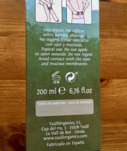 caducidad crema taull organics